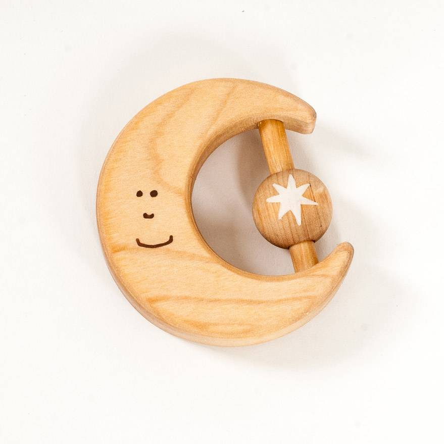 Friendly Toys Wooden Moon Teether