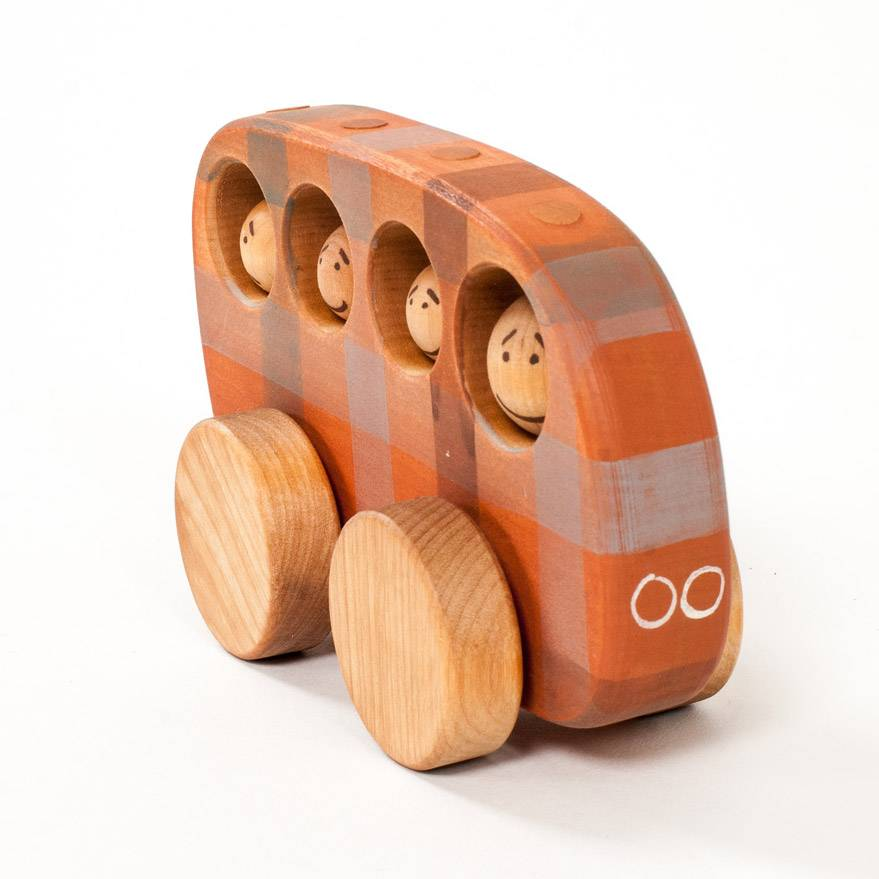 Friendly Toys Wooden Toy Bus