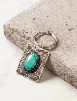 Richard Schmidt Turquoise Key Ring