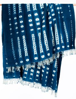 Legend Of Asia Mali Indigo Shibori Throw