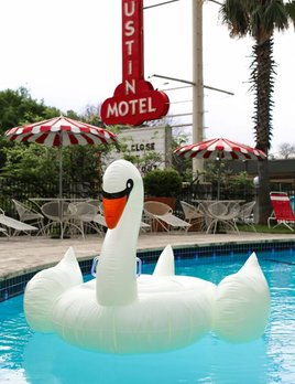 Sunnylife Inflatable Glow-in-the-Dark Swan