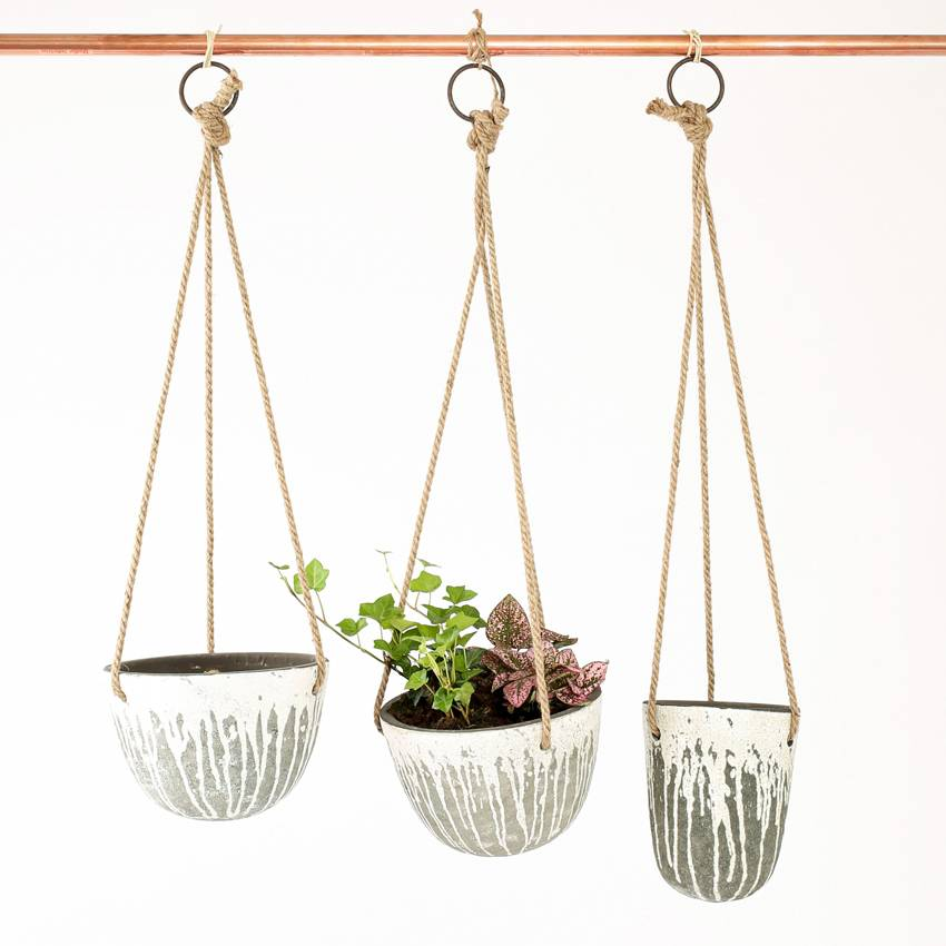 Creative Co Op Hanging Terracotta Planter L