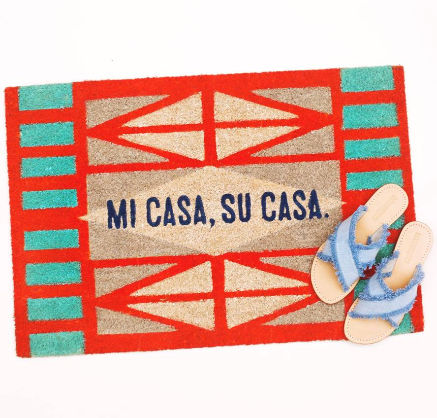 Floor 9 Mi Casa Su Casa Welcome Mat