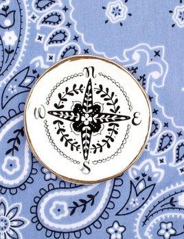 Natural Life Calypso Compass Trinket Dish
