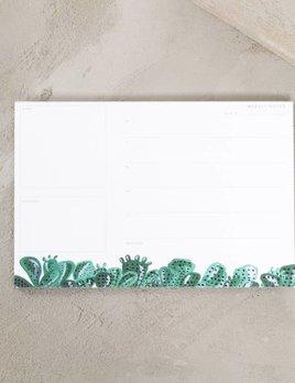 Pen and Pillar Cactus Weekly Notepad