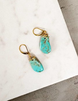 CLP Jewelry Wire Wrapped Turq Earring