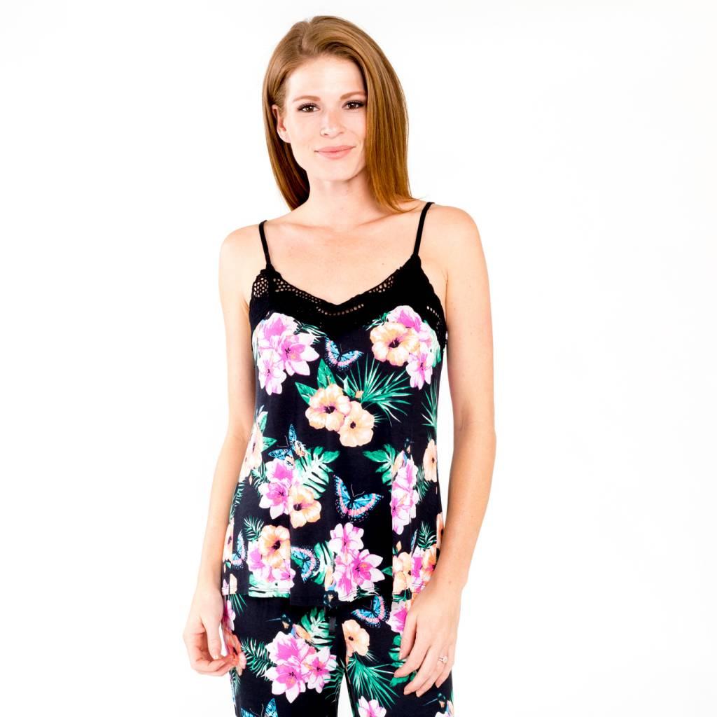 PJ Salvage Black Floral Cami
