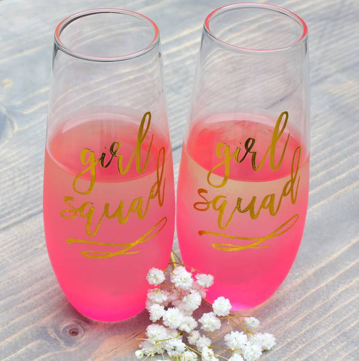 Slant Collections Girl Squad Champagne Glass