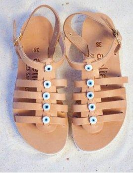 Aelia Greek Sandals Evil Eye Sandal