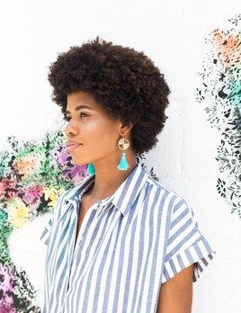 Farrah B Double Medallion Tassel Earring