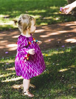 Masalababy Rosy Ikat Dress Purple