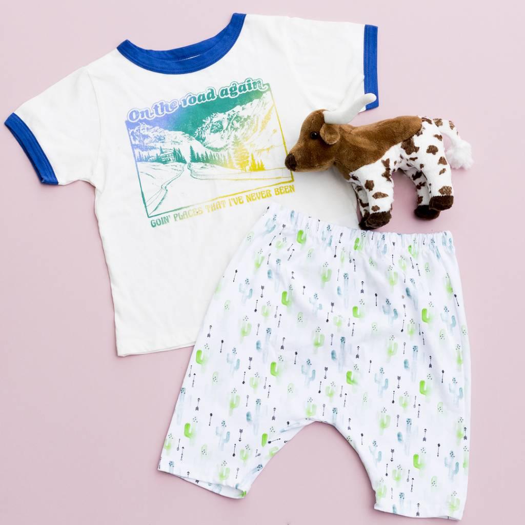The Handmade Kid Cactus Harem Shorts