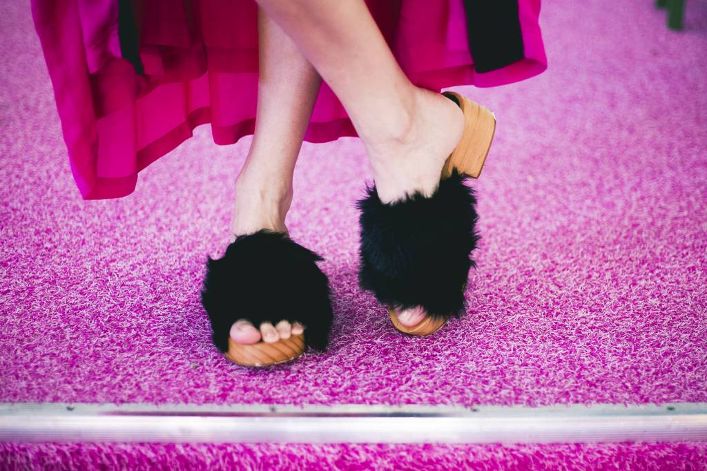 Free People Furry Sonnet Clog