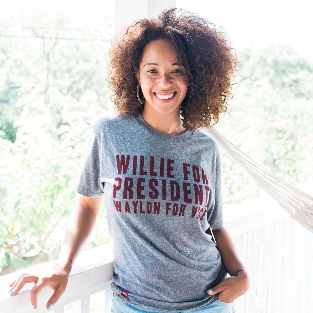 Tumbleweed Texstyles Willie For President Tee