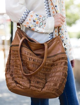 Day and Mood Alma Cognac Tote