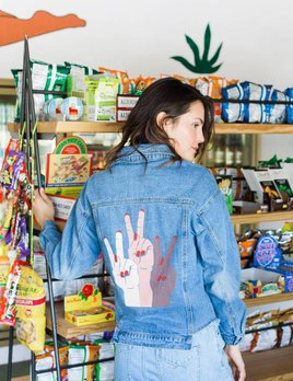 Sadie and Sage Peace Time Denim Jacket