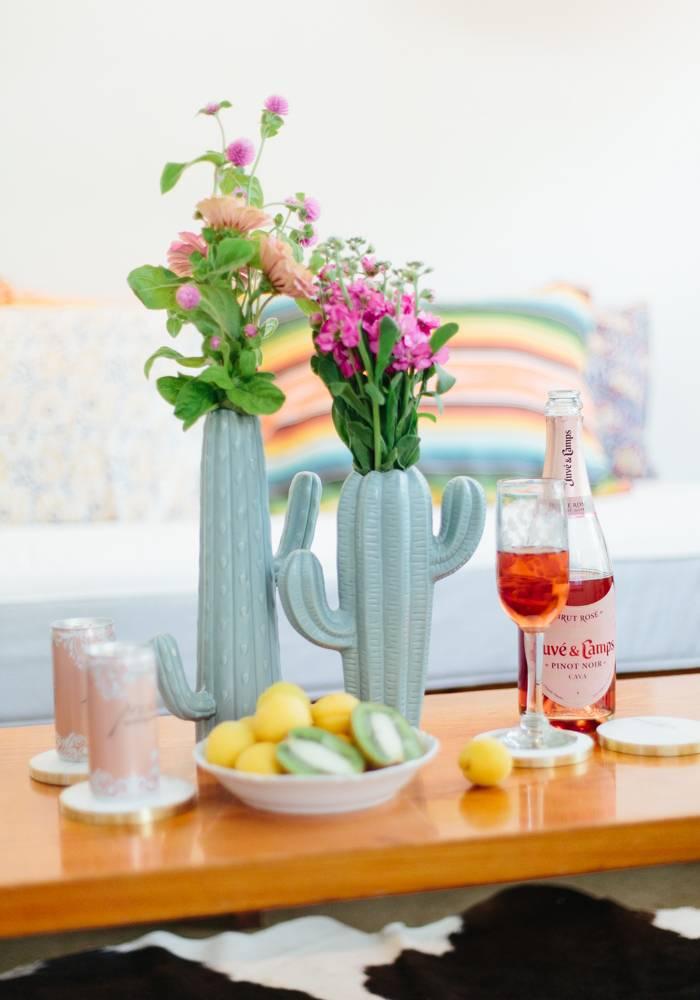 Creative Co Op Sage Cactus Vase