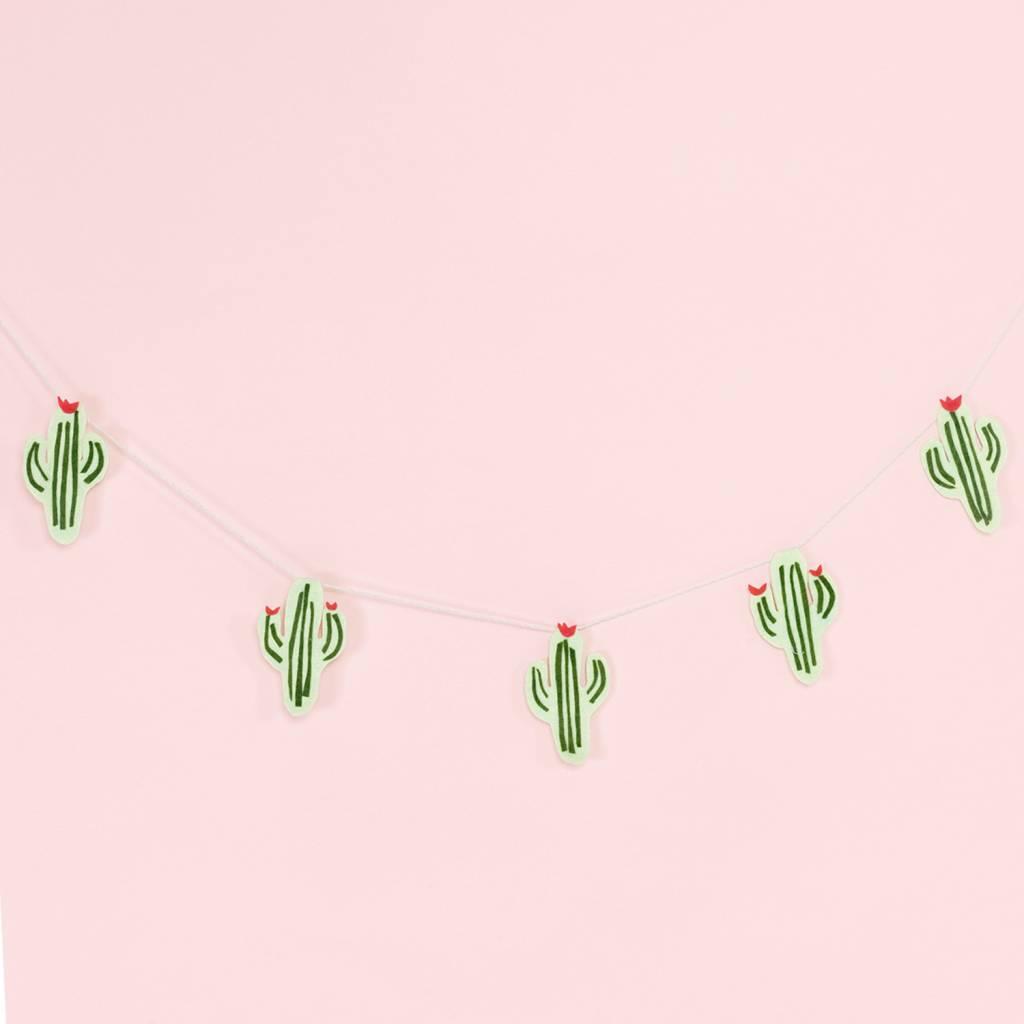 Tastefully Mismatched Cactus Felt Banner