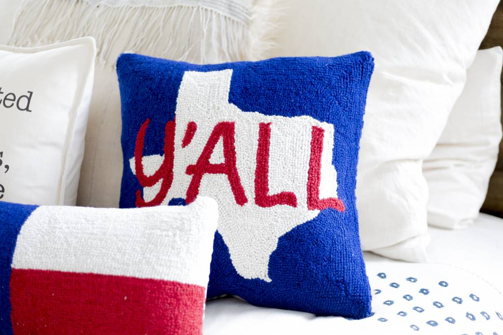 Peking Handicraft Texas Pride Pillow