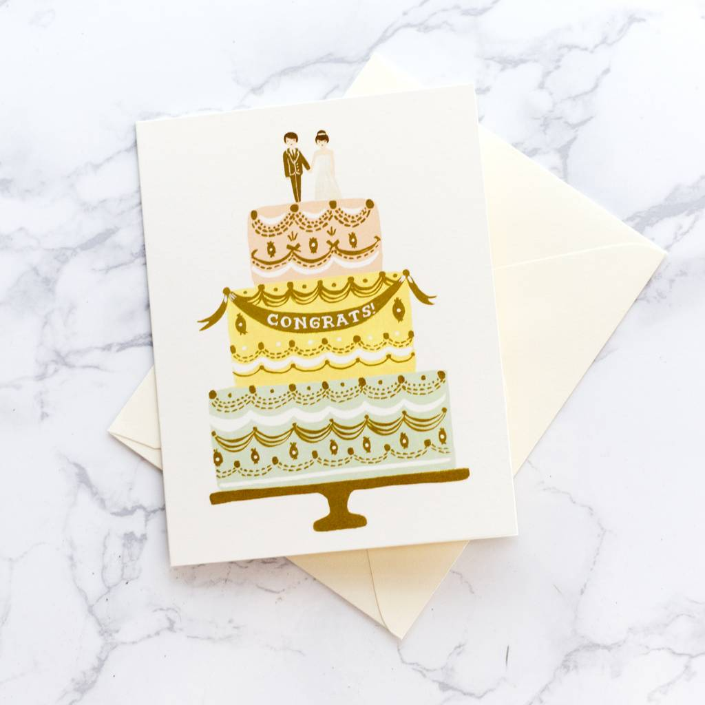 Rifle Paper Co Congrats Cake Card