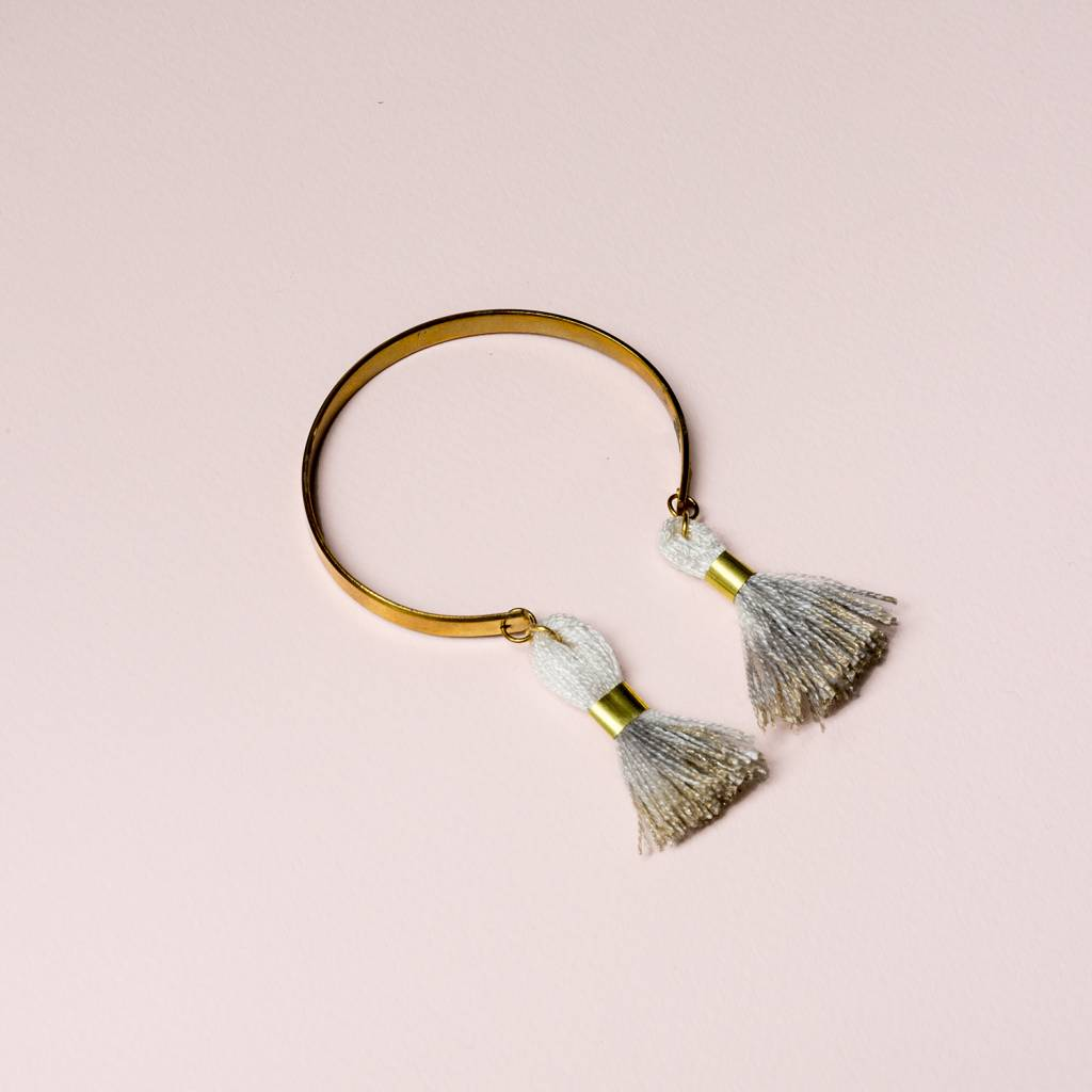 All The Wire Tassel Holiday Cuff Asst