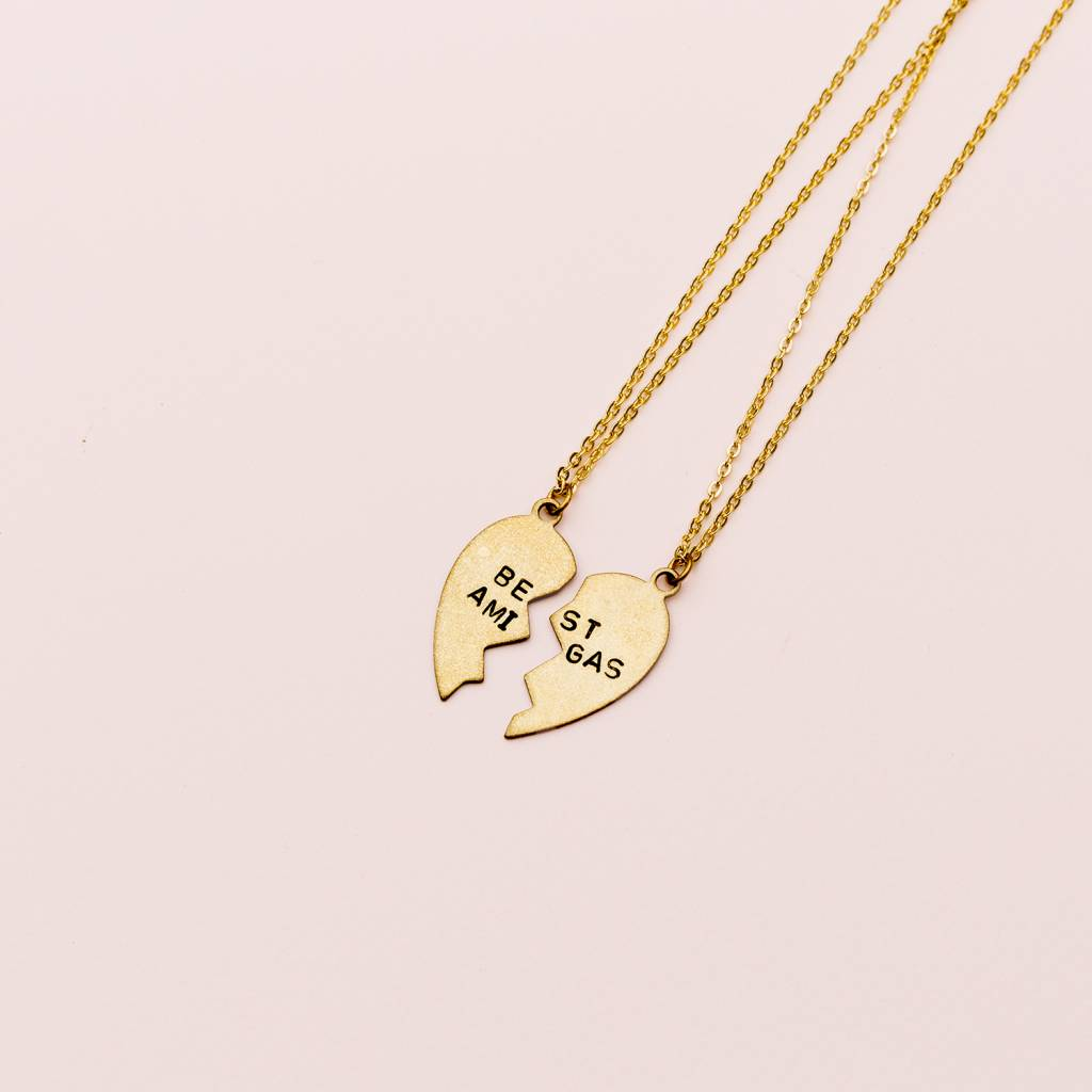 All The Wire Best Amigas BFF Necklaces