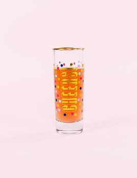 Slant Collections Cheers Shot Glass