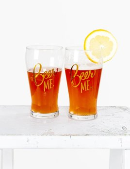 Easy Tiger Beer Me Glass