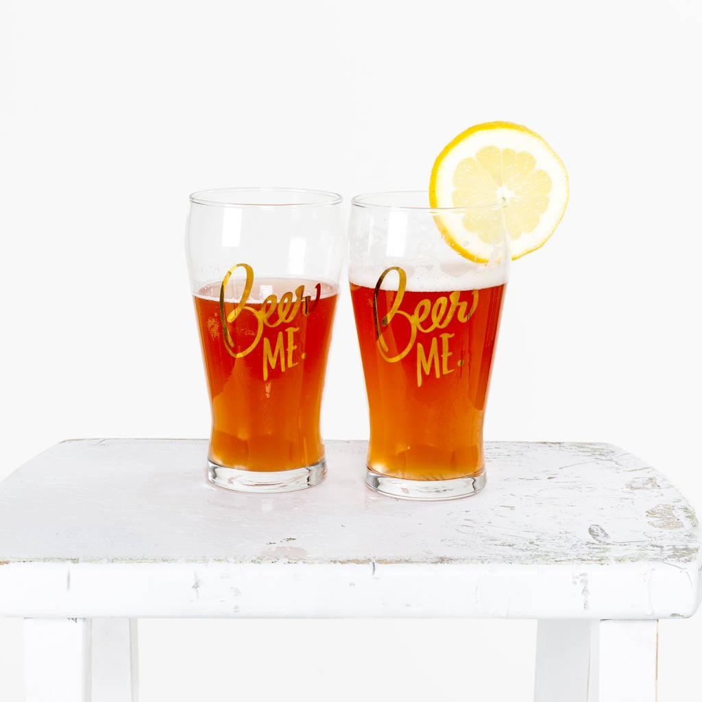 Easy Tiger Beer Me Glass