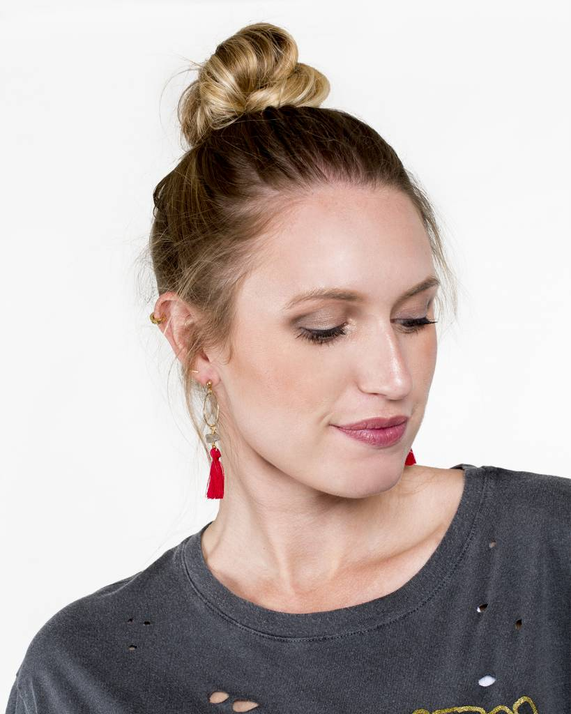 Farrah B Circle Tasseled Earrings