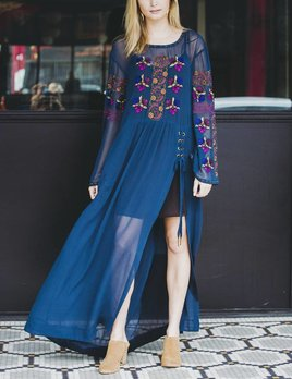 Free People Floral Maxi Top