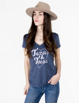 The Fiftees Texas And Tacos V Neck Tee