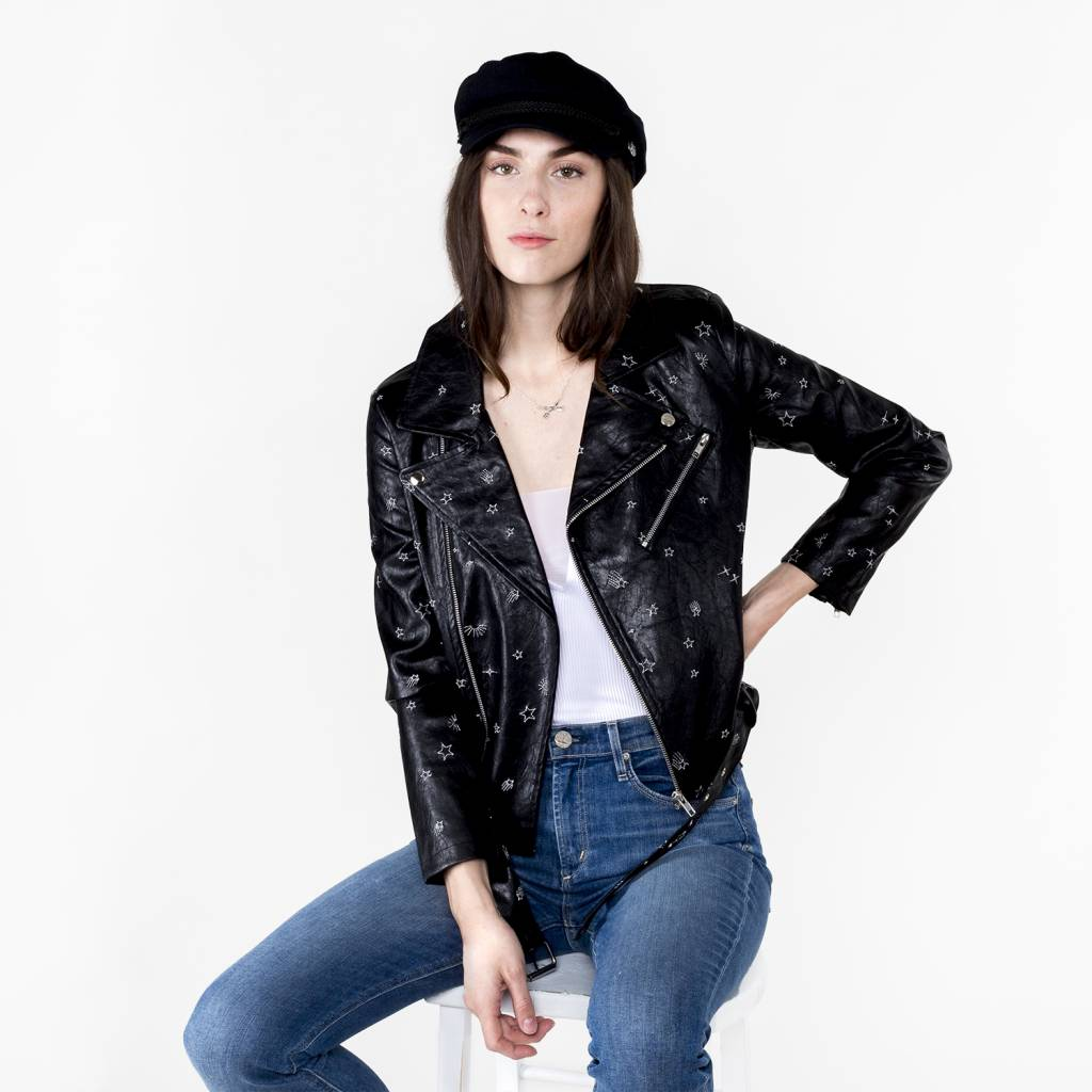 Honey Punch Space Girl Leather Jacket
