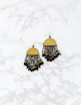 Nakamol Designs Half Moon Bead Earring