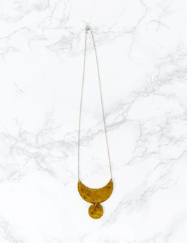 M. Liz Brass Umoon And Disk Necklace