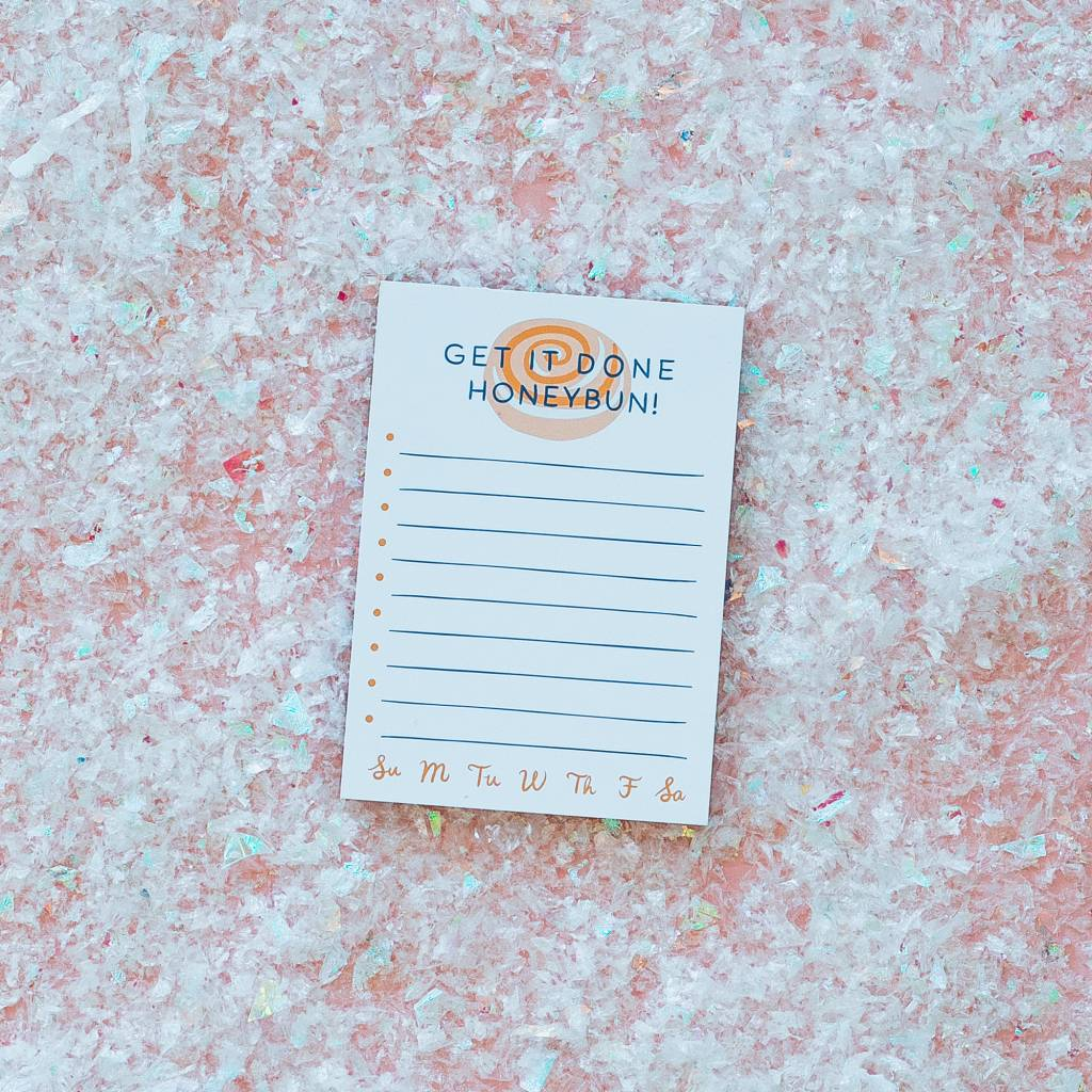 Little Low Done Honeybun Notepad
