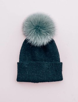 Evelyn K Removable Fur Beanie