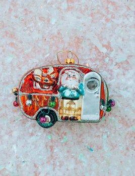 One Hundred 80 Degrees Trailer Trash Santa Ornament