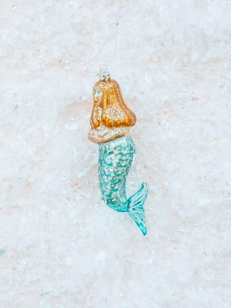 Creative Co Op Glass Mermaid Ornament