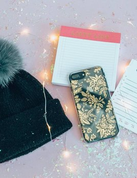Rifle Paper Co Clear Gold Floral Toile iPhone 7 Plus Case
