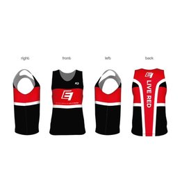 Run Singlet - Black/White