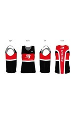 Run Singlet - Black/White - Girl's