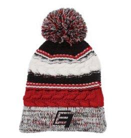 EF Winter Beanie - Black/Red
