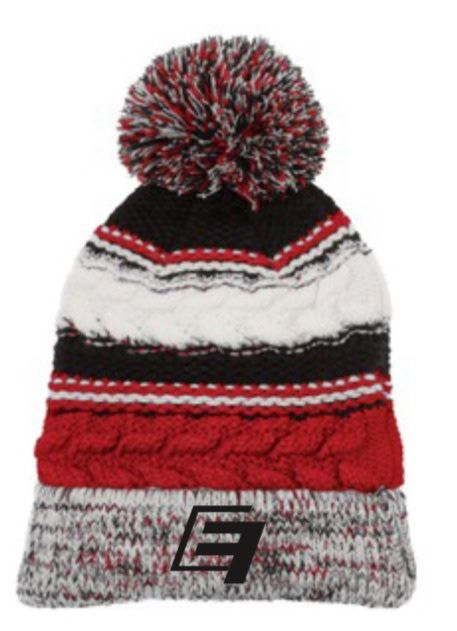 EF Winter Beanie - Black/Red