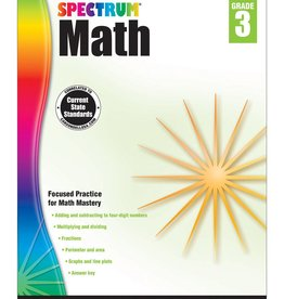 Carson Dellosa Spectrum Math Grade 3 Age 8-9