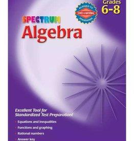 Carson Dellosa Spectrum Algebra Grade 6-8 Age 11-14