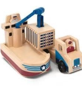 Melissa & Doug Cargo Ship & Truck Set