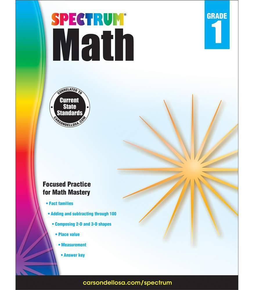 Carson Dellosa Book Spectrum Math Grade 1