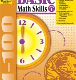 Evan-Moor Book Basic Math Skills   Gr-1