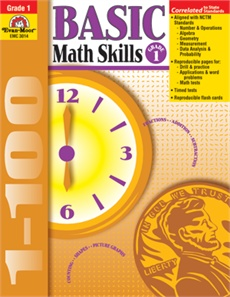 Evan-Moor Book Basic Math Skills   Gr-1